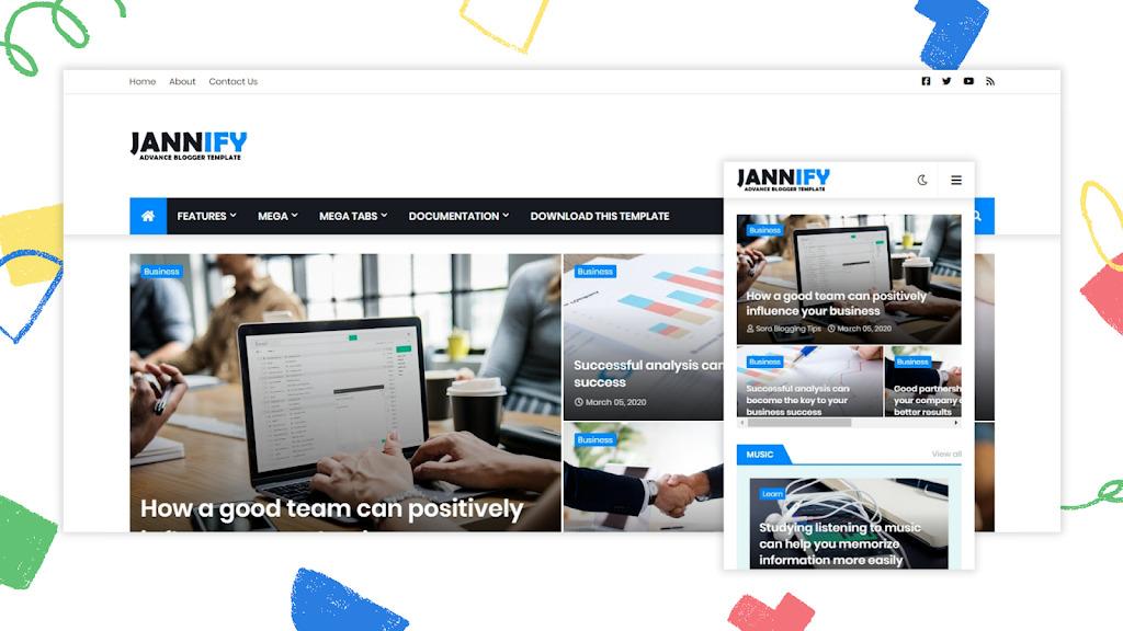 Jannify Premium Blogger Template – Jannify v1.0 Advance Blogger Template