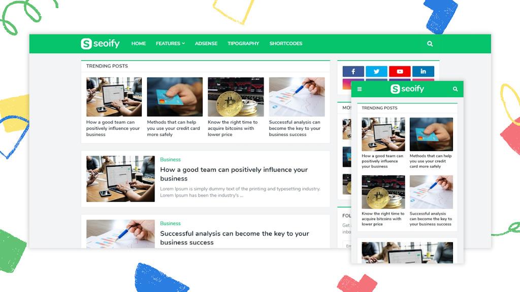 Seoify Premium Blogger Template – Version v1.4.0