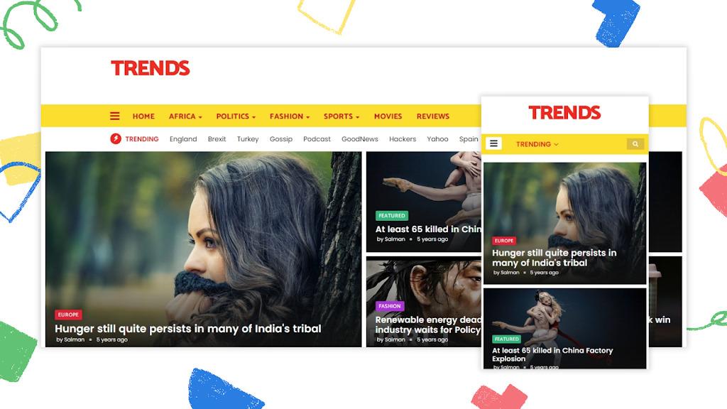 Trends – Premium News Magazine Blogger Template
